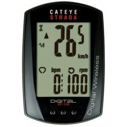 Licznik roweorowy bezprzewodowy CATEYE STRADA DIGITAL WIRELESS CC-RD410DW czarny