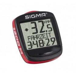 Licznik rowerowy SIGMA BASE BC-1200 przewód. czarno-czerw