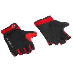 Rękawiczki ACCENT BORA czarno-czerwone XL