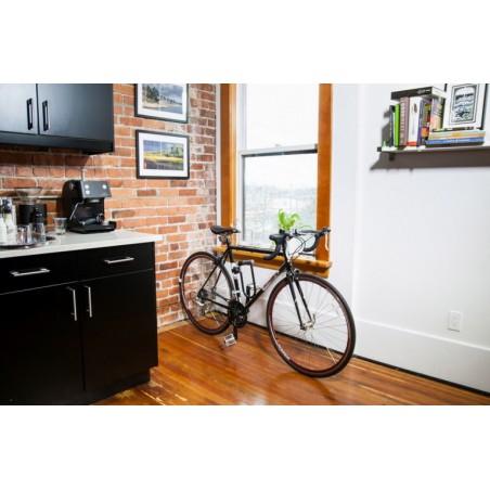 Wieszak rowerowy na ścianę CLUG HYBRID biało-pomarańczowy
