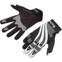 Rękawiczki DARTMOOR SNAKE biało-czarne M z długimi palcami