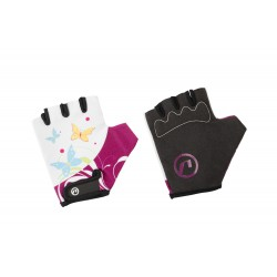 Rękawiczki ACCENT DAISY biało-fioletowe L/XL