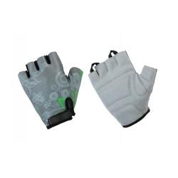 Rękawiczki ACCENT Flowers damskie szaro-zielone L
