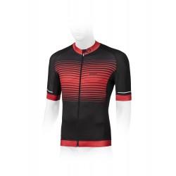 Koszulka ACCENT APEX czarno-czerwona, L