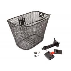 Koszyk na kierownicę zapin.+klip. HT-102 czarny 35x25x26