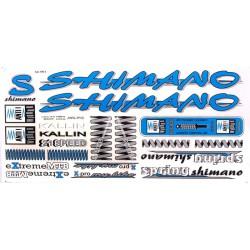 Naklejka KR4 - SHIMANO niebieska