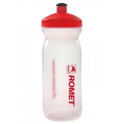 Bidon 0,6L Big Mouth przezroczysto-czerwony zakrętka/czerwona logo ROMET
