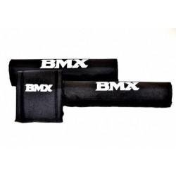 Ochraniacze piankowe na kierownice 20 BMX 3-częsciowe czarne