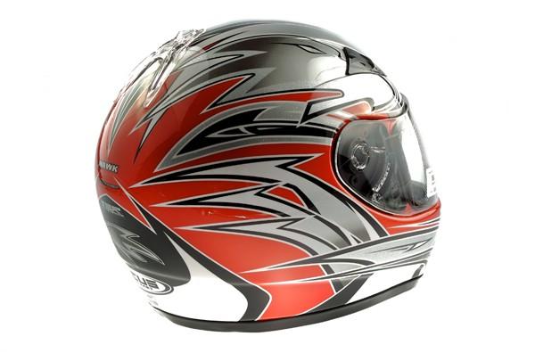 Kask motorowerowy M ZEUS ZS2000 srebrno-czerwony
