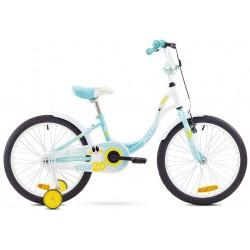 Rower ROMET TOLA 20 błękitny + kółka