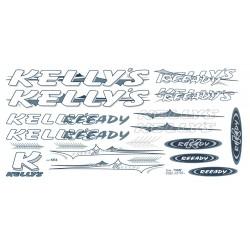 Naklejka KR4 - KELLYS  biało-grafit.