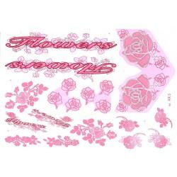 Naklejka KR5 - Flowers różowa