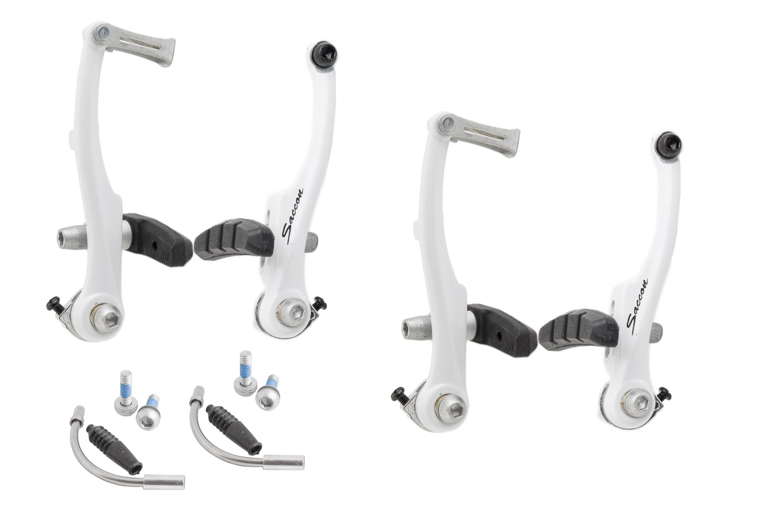 Hamulec V-brake MTB AL Saccon 110 białe