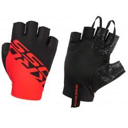 Rękawiczki KROSS Race Short 2.0 czarno-czerwone XL