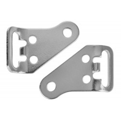 Adaptery do bagażnika Crosso srebrne /lewy+prawy/