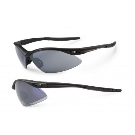 Okulary ACCENT Shadow czarne matowe  soczeweki PC