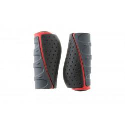 Chwyty kierownicy ACCENT Comfort 3D 92mm grafitowo-czarno-czerwone
