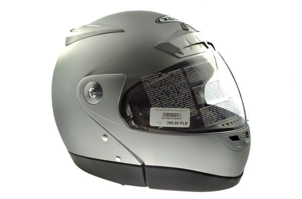 Kask motorowerowy L ZEUS ZS508B srebrny mat (p-szcz)