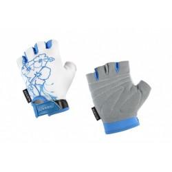 Rękawiczki rowerowe ACCENT DAISY biało-niebieskie XS