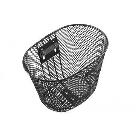Koszyk na kierownicę dziecięcy siatka SPENCER metalowy czarny