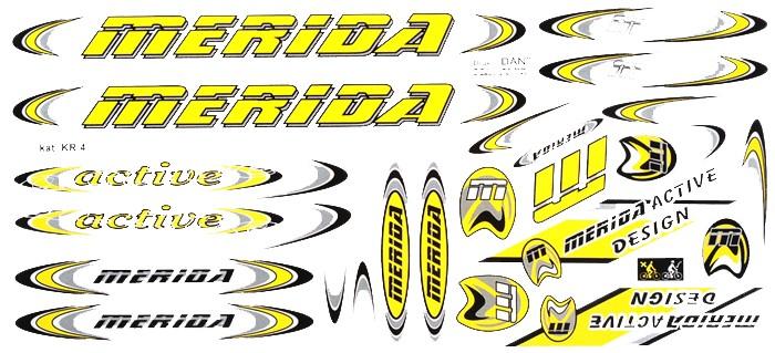 Naklejka KR4 - MERIDA żółta