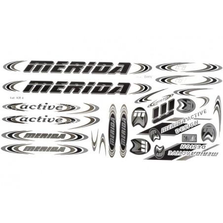 Naklejka KR4 - MERIDA czarno-oliwka