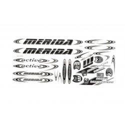 Naklejka KR4 - MERIDA czarno-grafitowa