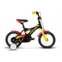 Rower KROSS 12'' TOM czarno-czerwono-żół poł
