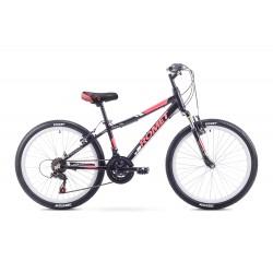Rower ROMET JOLENE JR 24  S czarno czerwony