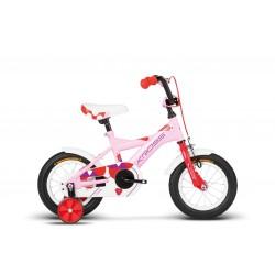 Rower KROSS 12'' CINDY róż-czer-fiol-połysk