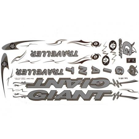 Naklejka KR4 - GIANT srebrna zestaw