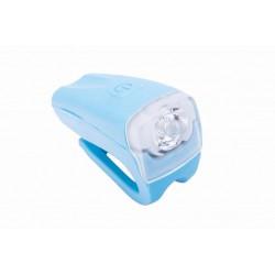 Lampa przednia bateryjna 1-LED 3W na kierownice ROMET JY-378 niebieska