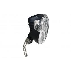 Lampa przednia na dynamo AXA ECHO z wyłącznikiem + uchwyt