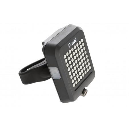 Lampa tylna /akumulator/ PROX FENIKS 64LED 10lm laser, USB, czarna