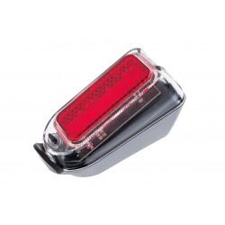 Lampa tylna /bateryjna/ na błotnik X-LIGHT 2xAAA z odbl.