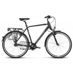Rower KROSS 28 TRANS 6.0 męski L czarno-srebrny mat
