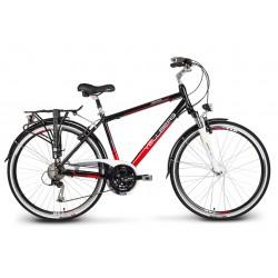 "Rower 28"" VELLBERG trekk. DISCOVER 3.1 M Alivio pr.DH czarno-czerwony mat. 17"""