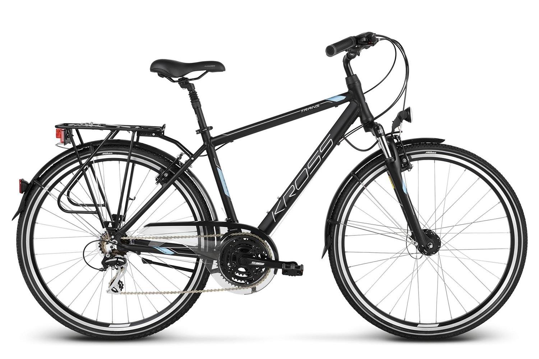 Rower KROSS 28 TRANS 4.0 Męski L czar-nieb-sreb mat