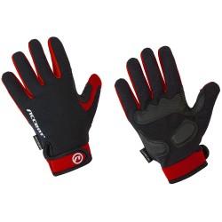 Rękawiczki ACCENT BORA LONG czarno-czerwone M z długimi palcami