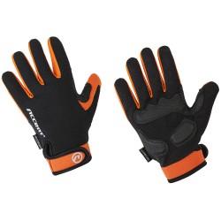 Rękawiczki ACCENT BORA LONG czarno-pomarańczowe L z długimi palcami