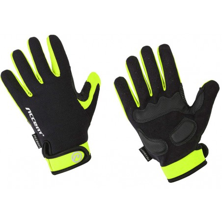 Rękawiczki ACCENT BORA LONG czarno-zielone L z długimi palcami