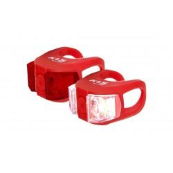 Lampa p+t KELLYS TWINS czerwona