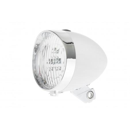 Lampa przednia /bateryjna/ RETRO 3 LED 160302 biała