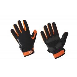 Rękawiczki ACCENT BORA LONG czarno-pomarańczowe XL z długimi palcami