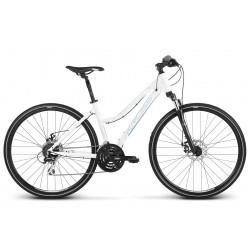 Rower KROSS 28 EVADO 4.0 Damski L biało-niebieski połysk