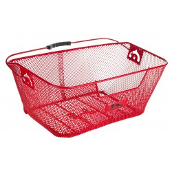 Koszyk na bagażnik siatka M-Wave wsuwany, czerwony
