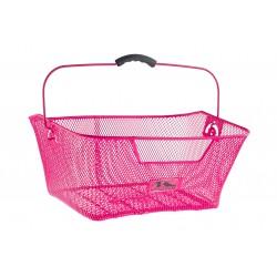 Koszyk na bagażnik siatka M-Wave wsuwany, różowy