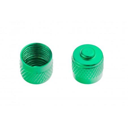 Kapturek zaworka aluminowy anod. M-wave 2szt zielony