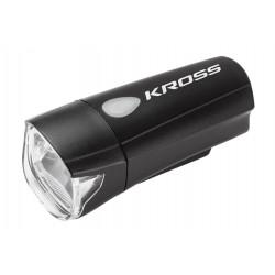 Lampa przednia /bateryjna/ KROSS NATTY 57lm czarna + baterie