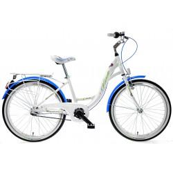 Rower 24 KANDS OLIVIA AL. CTB D NEXUS 3-bieg. biał/niebieski